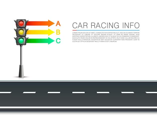 Informations sur les feux de circulation sur fond blanc. illustration vectorielle