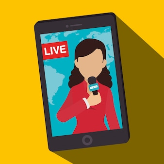 Informations sur les médias de masse sur mobile