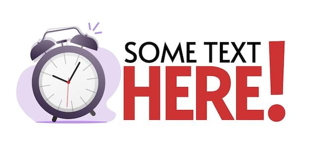 Informations sur la promotion du temps ou bannière de modèle vide de promotion de texte de motivation