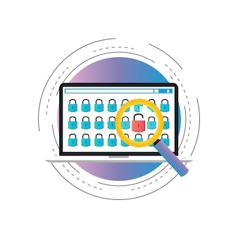 Informations sécurisées, confidentialité des données et protection des cadenas