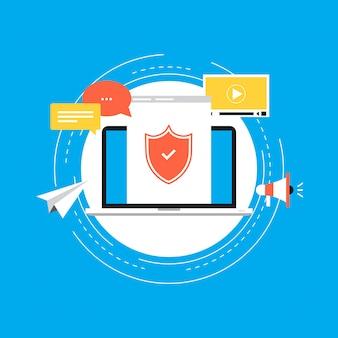 Informations sécurisées, confidentialité des données et protection en ligne