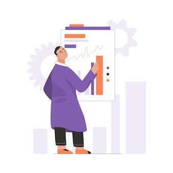 L'ingénieur analyse les données graphiques et les statistiques