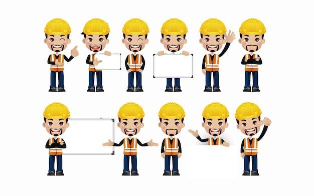 Ingénieur. les gens avec des poses différentes.