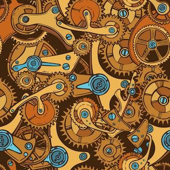 Les ingénieurs croquis couleur de motif sans soudure