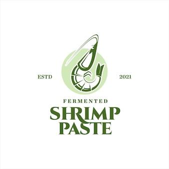 Ingrédient d'assaisonnement vectoriel en pâte de crevettes fermentées saveur de fruits de mer pour étiquette culinaire