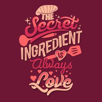 L'ingrédient secret est toujours les citations d'amour