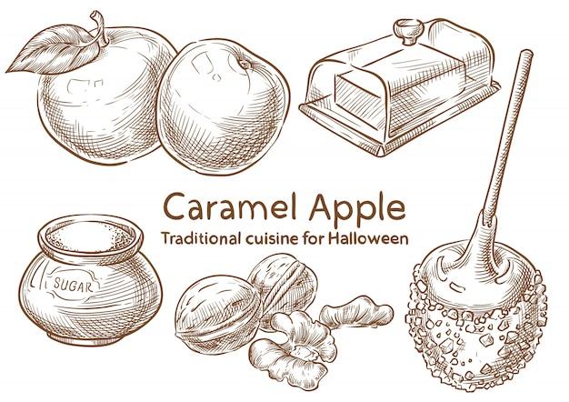 Ingrédients alimentaires traditionnels d'halloween