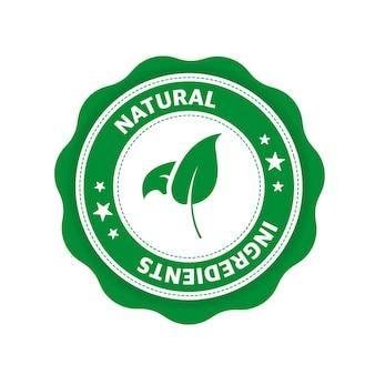 Ingrédients naturels grand design pour toutes les fins icône de feuille produit naturel