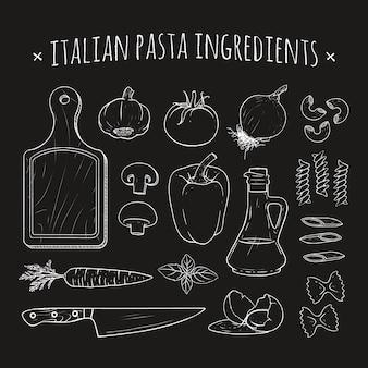 Ingrédients pâtes italiennes