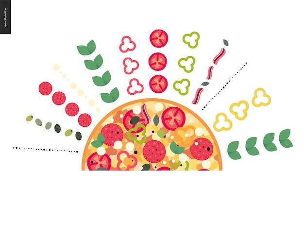 Ingrédients de restaurant italien