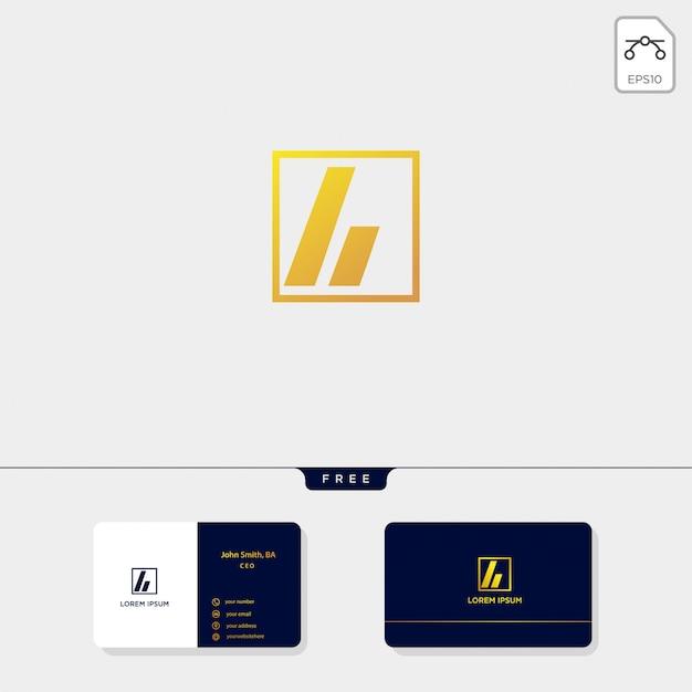 Les initiales abstraites a, le modèle de logo et la conception de carte de visite comprennent