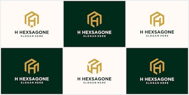 Initiales h hexagone logo monogramme