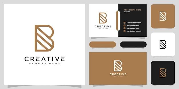 Initiales lettre b logo vector design et carte de visite