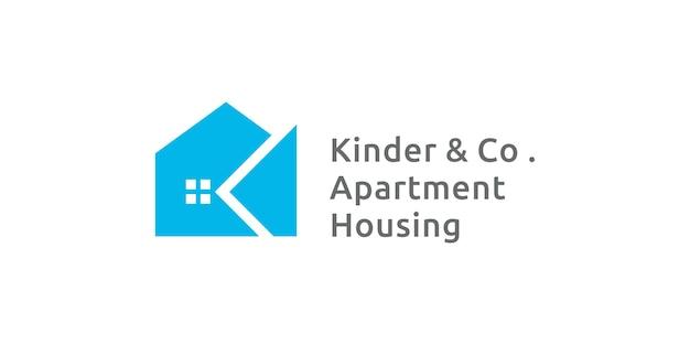 Initiales lettre k dans le style appartement