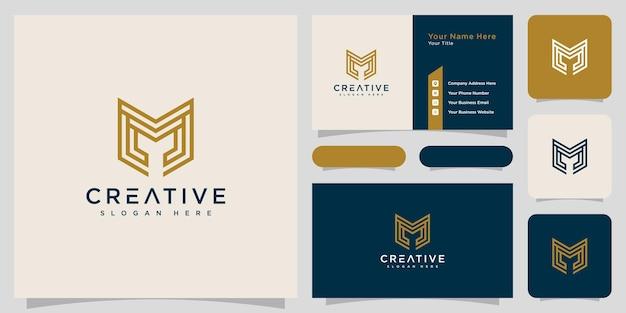Initiales lettre m conception de vecteur de logo abstrait