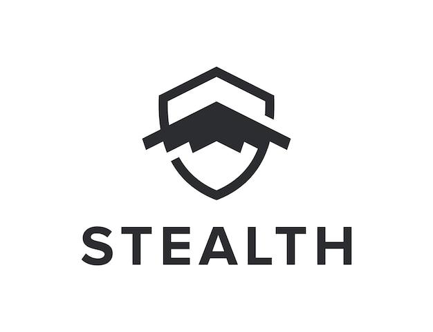 Initiales lettre s avec furtivité et bouclier simple création de logo géométrique moderne et élégant