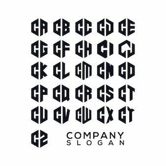 Initiales logo vecteur