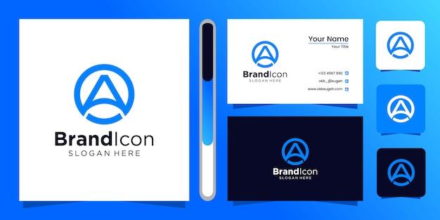 Initiales un modèle de conception de logo.