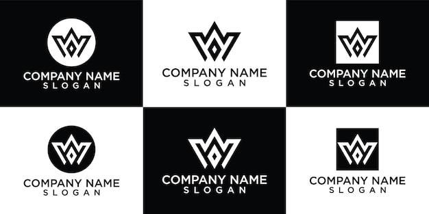 Initiales w modèle de logo