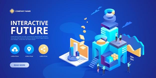 Innovation future interactive. expérience de travail, d'apprentissage ou e
