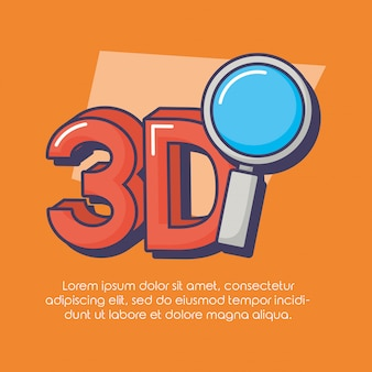 Innovation de la technologie 3d en forme de loupe