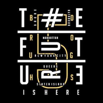 Innovation typographie conception de t-shirt