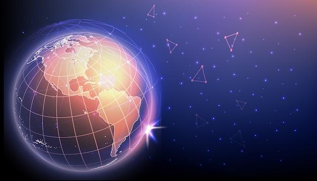 Innovations de haute technologie et concept de cyber-connexions.