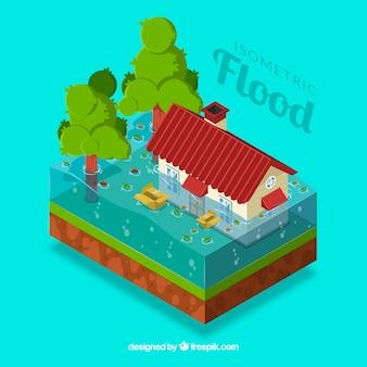 Inondation isométrique