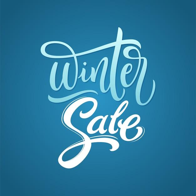 Inscription de calligraphie de vente d'hiver