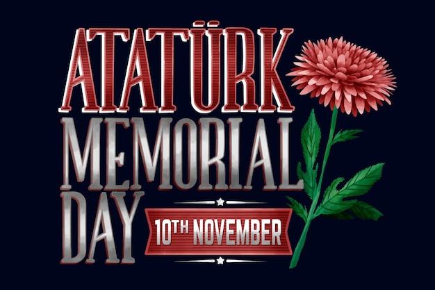 Inscription du jour commémoratif d'ataturk
