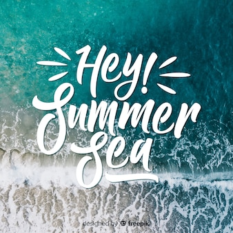 Inscription d'été avec photo