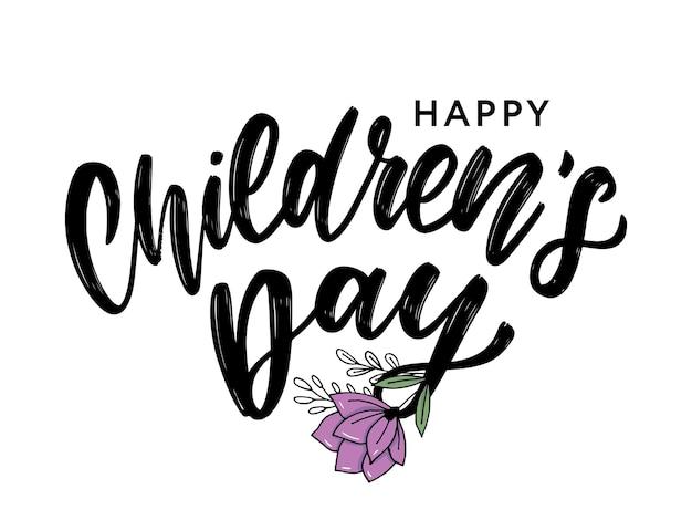 Inscription de la journée des enfants.