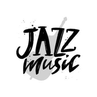 Inscription de lettrage de brosse de musique de jazz