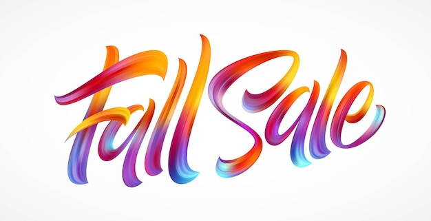 Inscription à la main de la saison d'automne vente d'automne