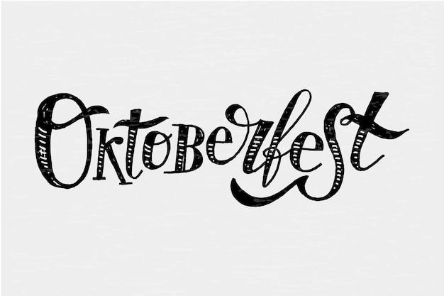 Inscription oktoberfest sticker calligraphie pinceau texte de vacances