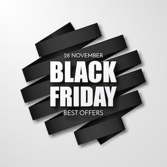 Inscription vendredi noir sur des taches d'encre abstraites à vendre