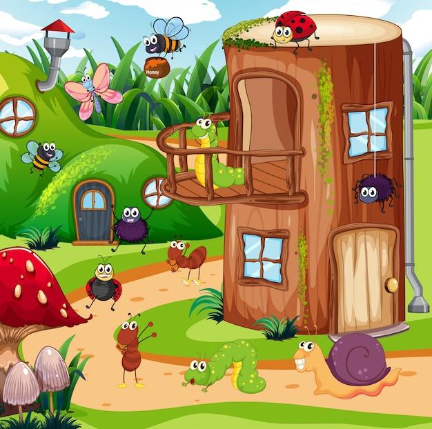 Insecte dans la maison des fées