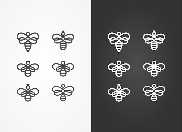 Insecte noir et blanc hornet