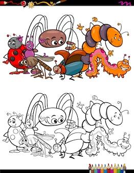 Insectes animaux caractères livre de coloriage