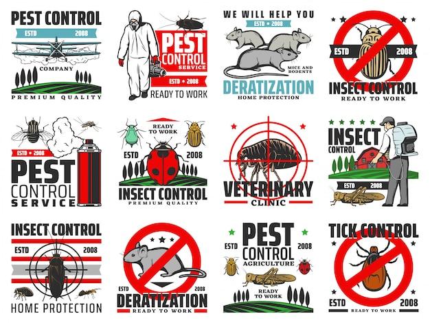 Insectes ravageurs, dératisation, extermination