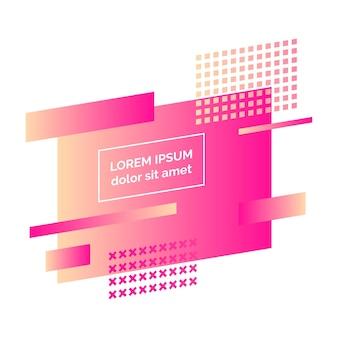 Insigne abstrait coloré géométrique. élément graphique moderne. design minimaliste à dégradé dynamique à la mode. illustration vectorielle
