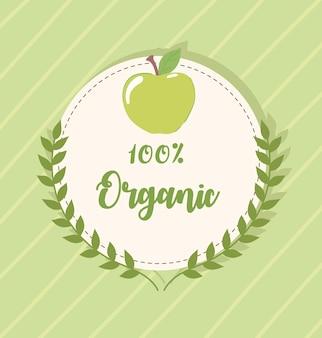 Insigne d'aliments frais biologiques