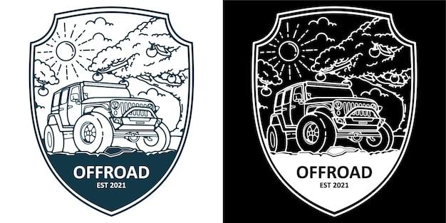 Insigne d'autocollant de logo tout-terrain