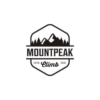Insigne d'aventure vintage montagne voyage montée colline camp logo création