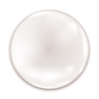 Insigne brillant blanc isolé