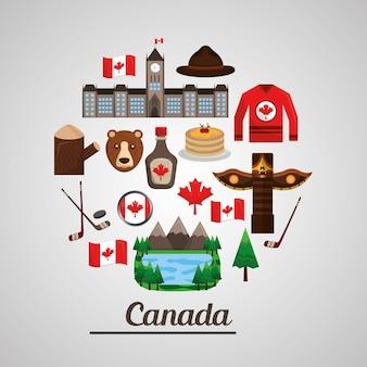 Insigne canadien objet symbole collection nationale