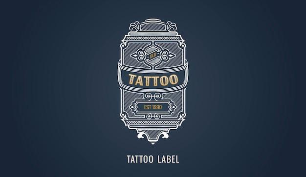 Insigne ou carte de cadre d'étiquette et d'emblème moderne