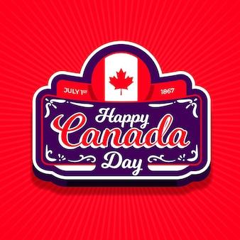 Insigne de célébration de la fête du canada