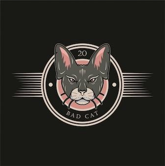 Insigne de chat sauvage