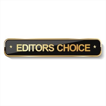 Insigne de choix d'éditeurs d'or sur fond blanc